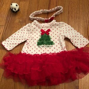 Baby's first Christmas dress!!!